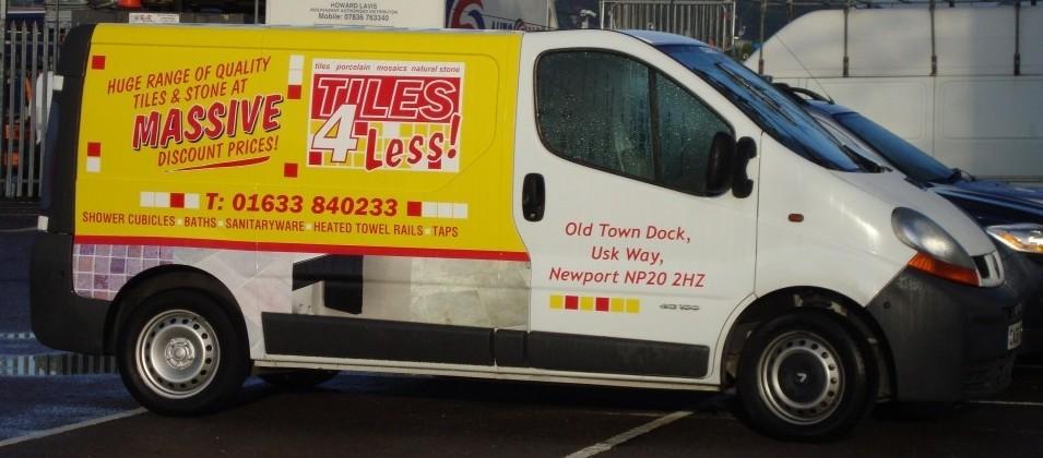 TIles4Less Vehicle Branding